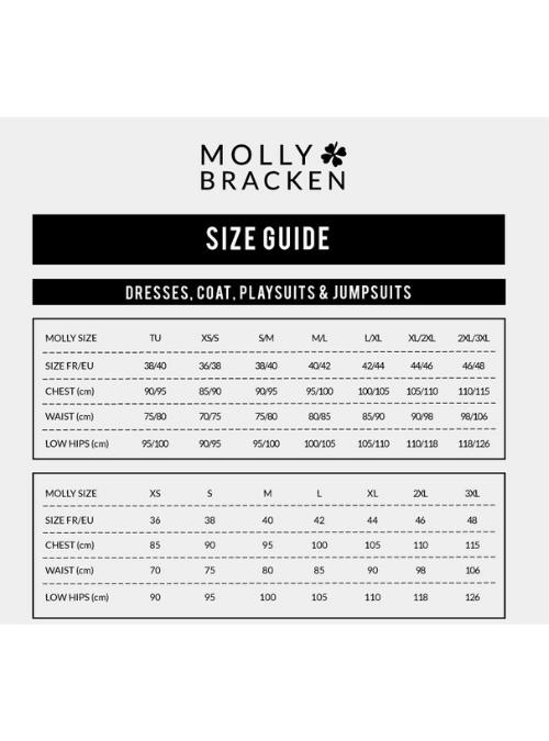 Molly Bracken Size Chart