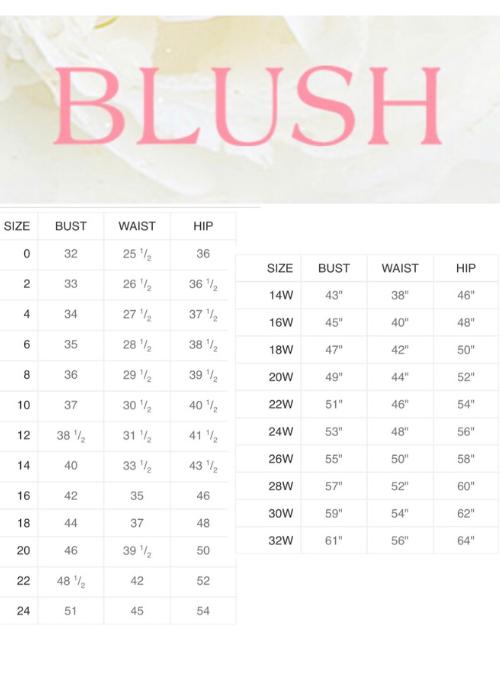 BlushSizeChart